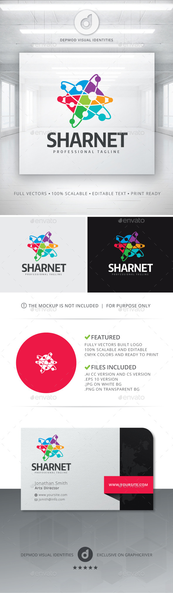 GraphicRiver SharNet Logo 11242344