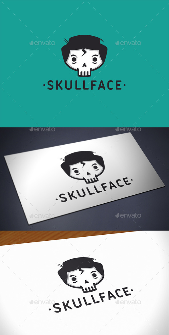 GraphicRiver Skull Kid Face Logo Template 11242434