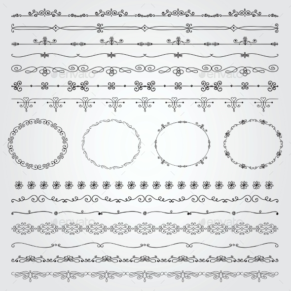 GraphicRiver Hand Drawn Borders and Frames 11242595