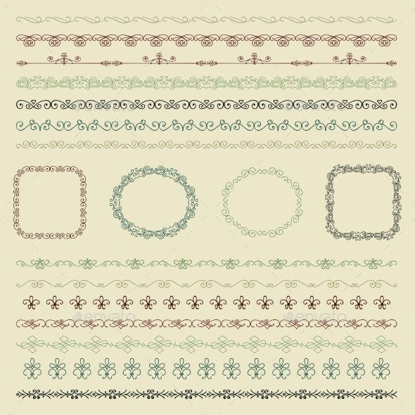 GraphicRiver Hand Drawn Borders and Frames 11242602