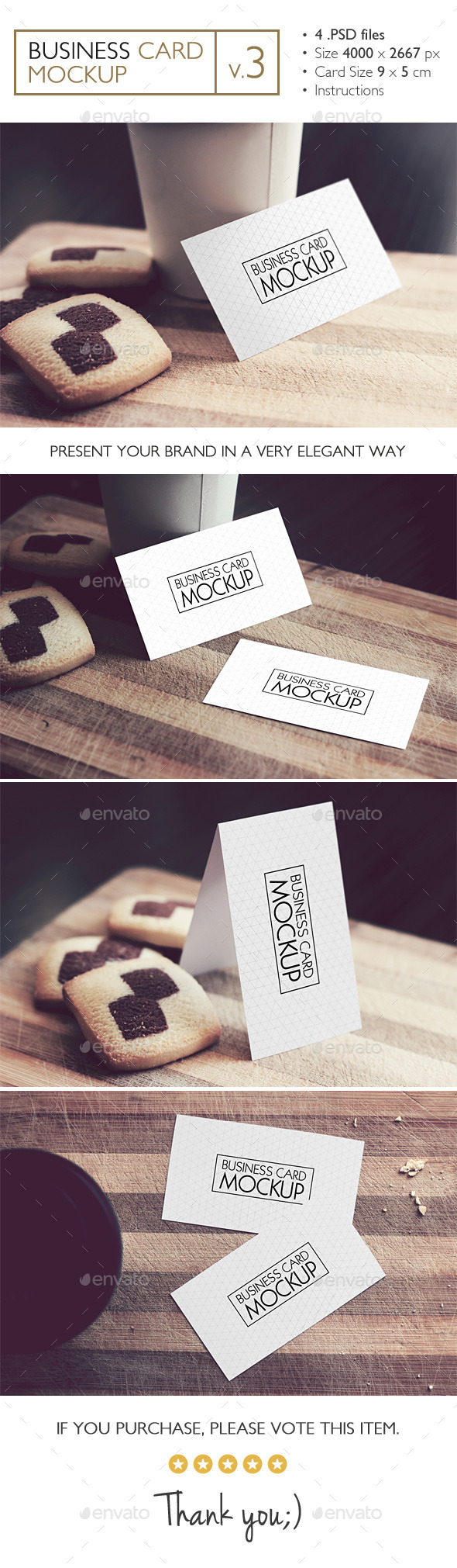 GraphicRiver Business Card Mockup v.3 11242612