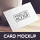 Business Card Mockup v.3 - GraphicRiver Item for Sale