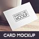 Business Card Mockup v.3 - GraphicRiver Item for Sale