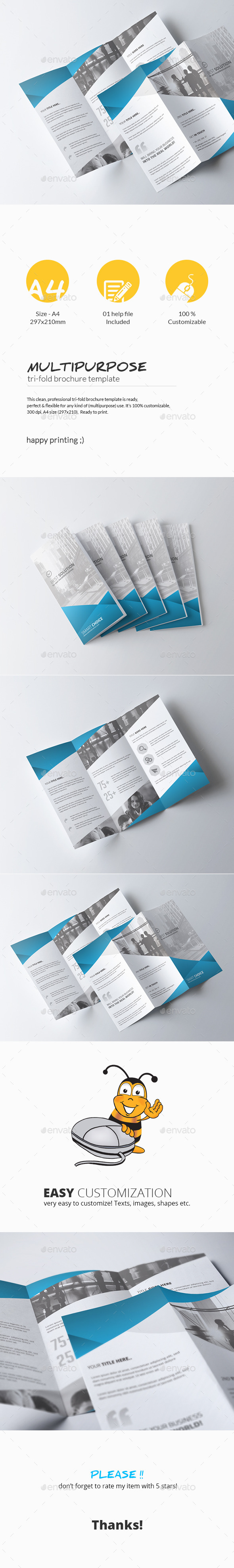 GraphicRiver Tri-Fold Brochure Multipurpose 11242629