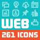 261 Vector WebDev Icons - GraphicRiver Item for Sale