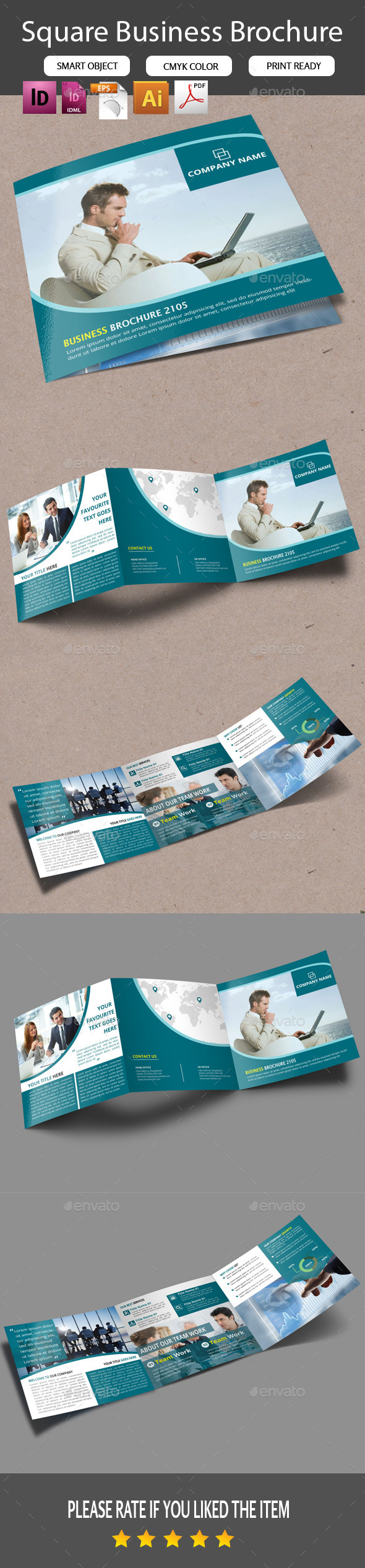 GraphicRiver Square Trifold Business Brochure 11242800