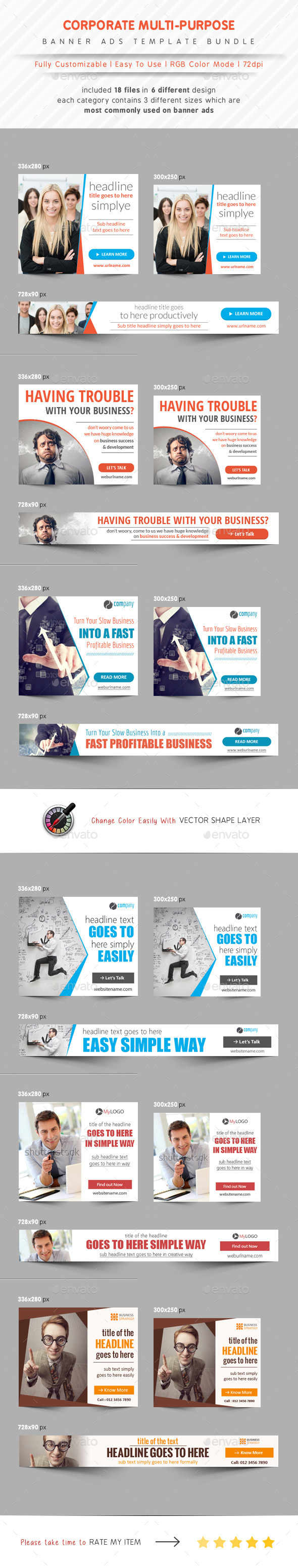 GraphicRiver Corporate Banner Bundle Ads 11242865