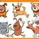 dogs characters cartoon set - PhotoDune Item for Sale