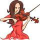 woman playing violin illustration - PhotoDune Item for Sale
