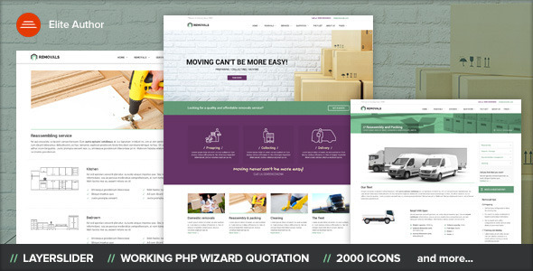ThemeForest REMOVALS Removals and Moving Template 11242925