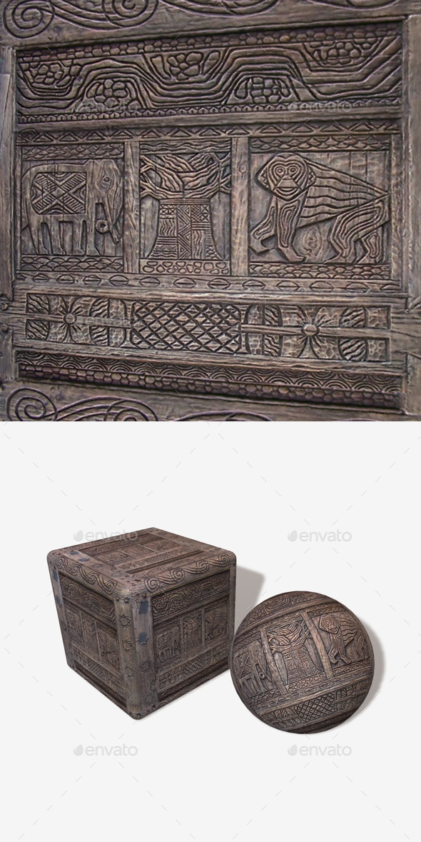 3DOcean African Wood Carving 1 11242951