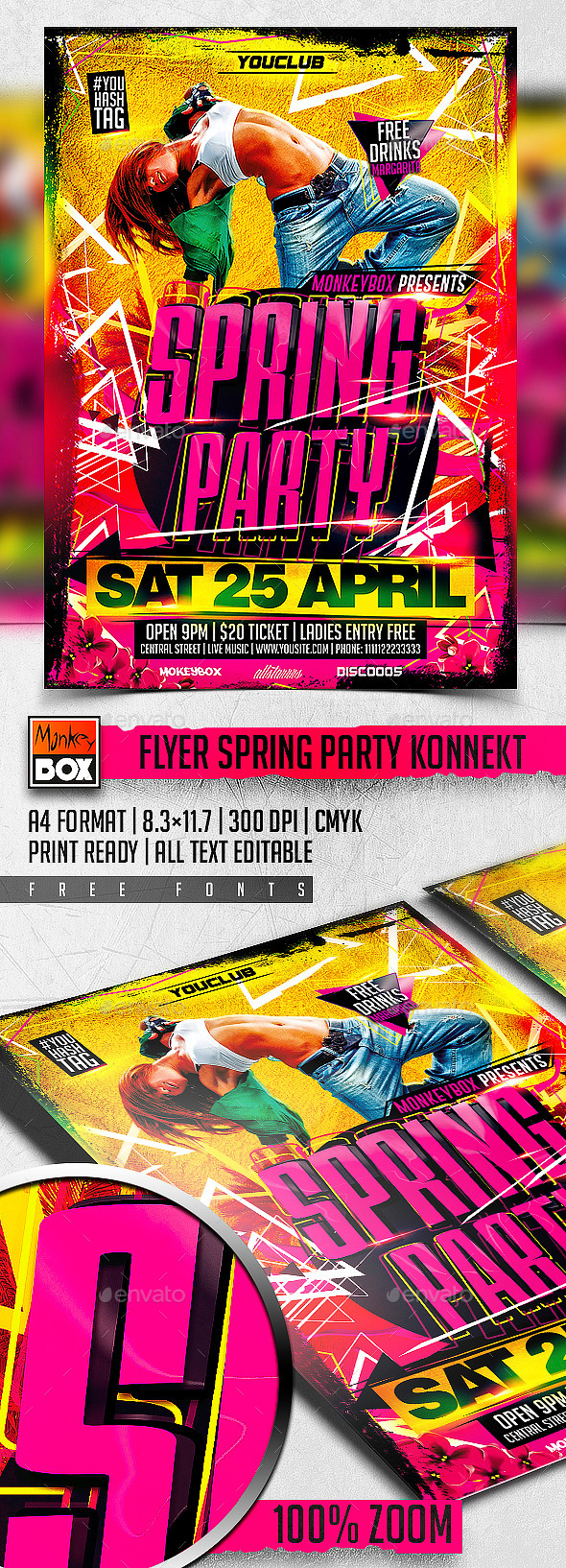 GraphicRiver Flyer Spring Party Konnekt 11242997