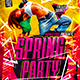 Flyer Spring Party Konnekt - GraphicRiver Item for Sale