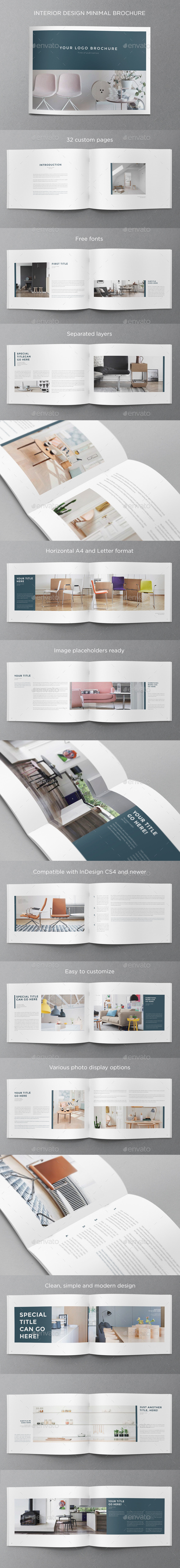 GraphicRiver Interior Design Minimal Brochure 11243000