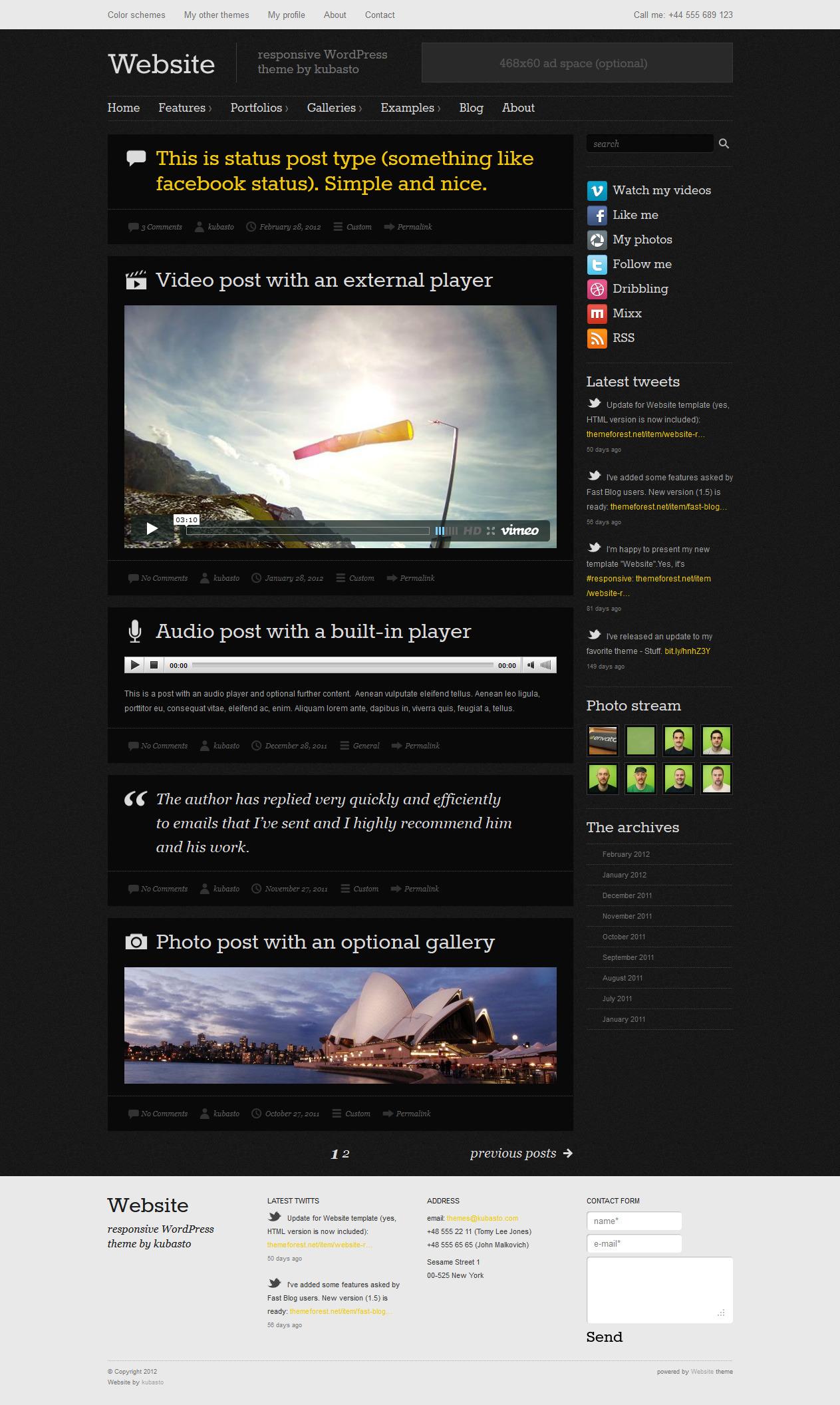 Website - Responsive WordPress Theme