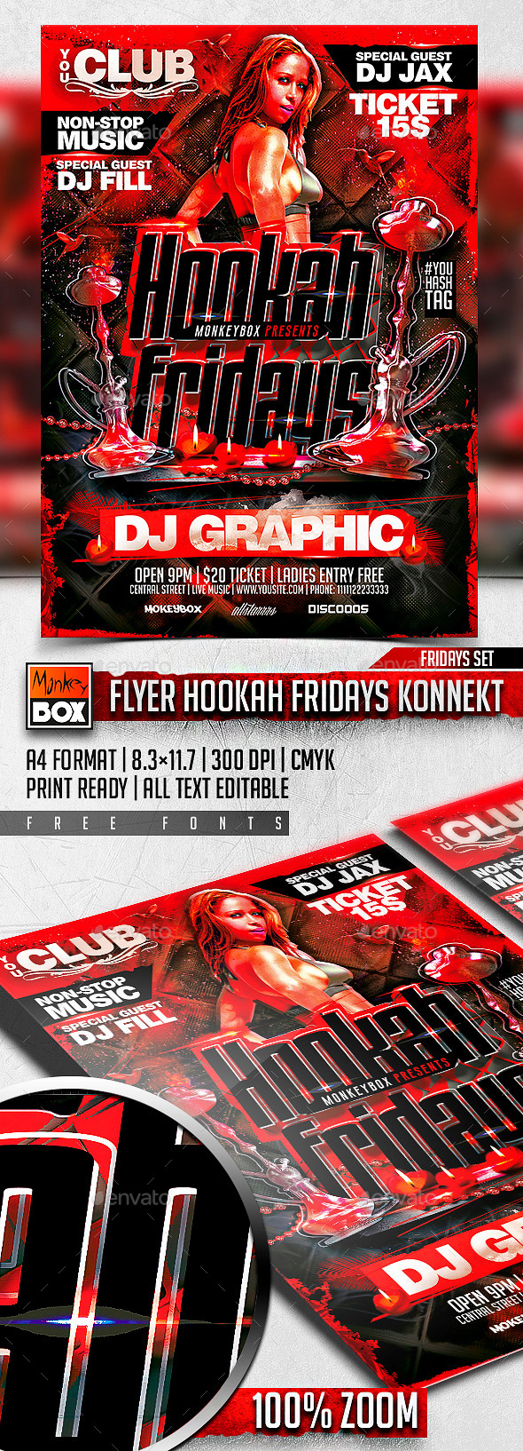 GraphicRiver Flyer Hookah Fridays Konnekt 11225183
