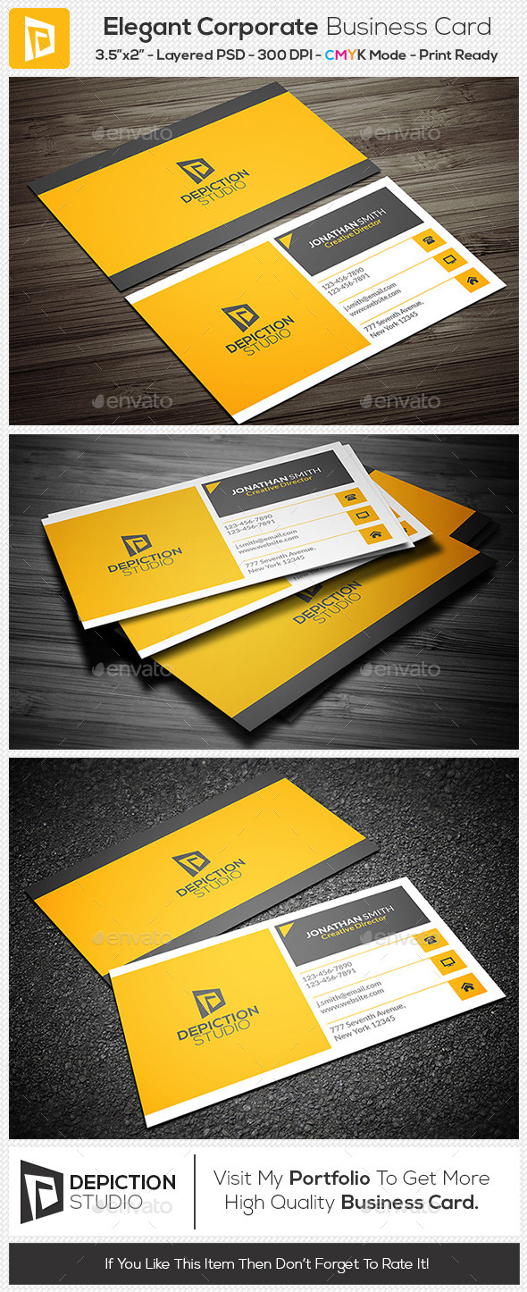GraphicRiver Elegant Corporate Business Card 11243289