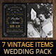 7 Vintage Items - Wedding Pack V - GraphicRiver Item for Sale