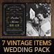 7 Vintage Items - Wedding Pack V - GraphicRiver Item for Sale