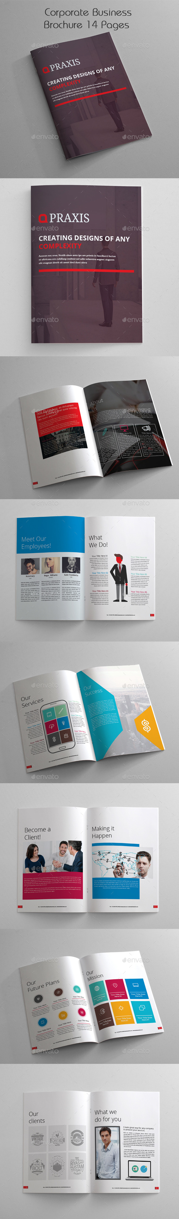 GraphicRiver Corporate Business Brochure 14 Pages 11243400