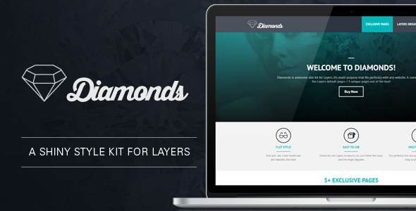 CodeCanyon Diamonds Flat Style kit for Layers 11205853