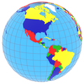 South and North America on the globe - PhotoDune Item for Sale