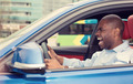 angry pissed off aggressive young man driving car shouting - PhotoDune Item for Sale