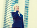 Happy businesswoman talking on a phone - PhotoDune Item for Sale