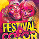 Festival of Color Event Flyer - GraphicRiver Item for Sale