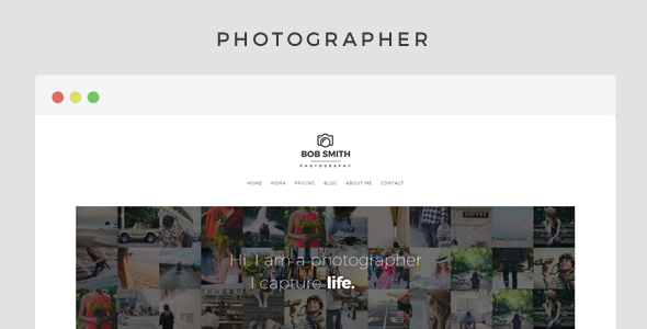 ThemeForest Photographer A Template For Photographers 11244061