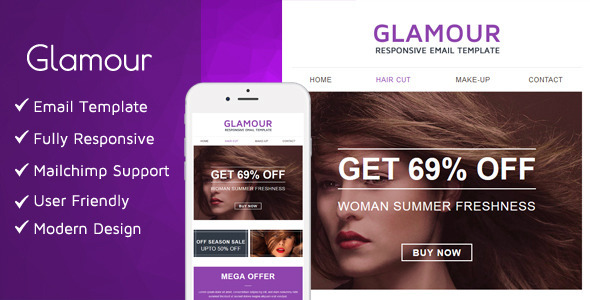 ThemeForest Glamour Email Template 11018012