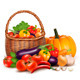 Basket Full of Fresh Vegetables Background - GraphicRiver Item for Sale