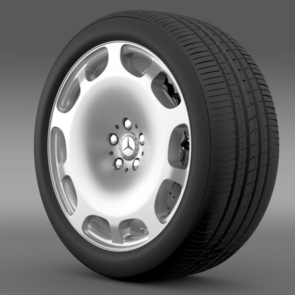 3DOcean Mercedes Maybach wheel 11244167