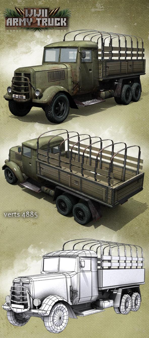 3DOcean Army Truck 11244179