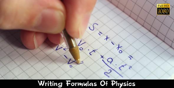 Writing Formulas Of Physics