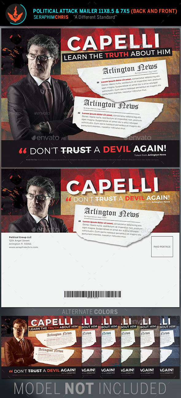 GraphicRiver Political Attack Mailer Template 11244273