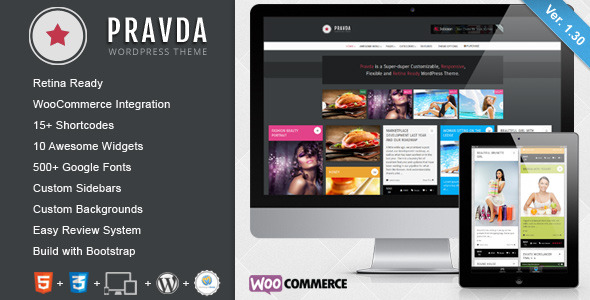 Pravda - Retina Responsive WordPress Blog Theme - Title Theme