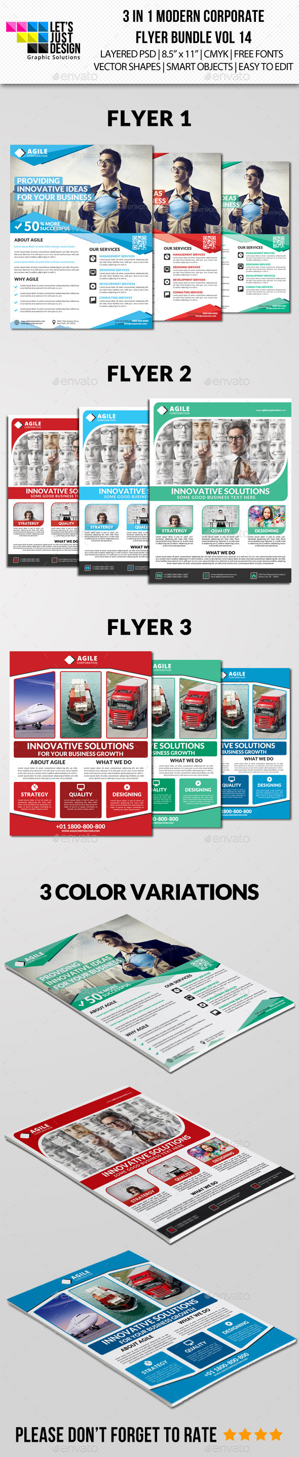 GraphicRiver Modern Corporate Flyer Pack Vol 14 11244550