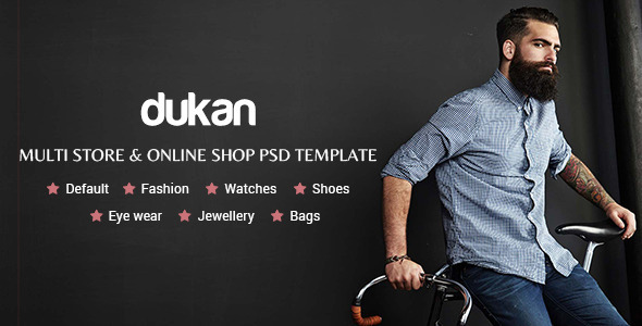 ThemeForest Dukan Multi Store & Online Shop PSD Template 11244760