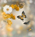 Flowers And Butterflies Watercolor - PhotoDune Item for Sale