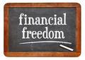 financial freedom on blackboard - PhotoDune Item for Sale