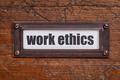 work ethics file  label - PhotoDune Item for Sale