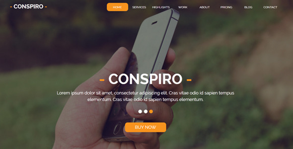 Conspiro - Multipurpose Muse Template