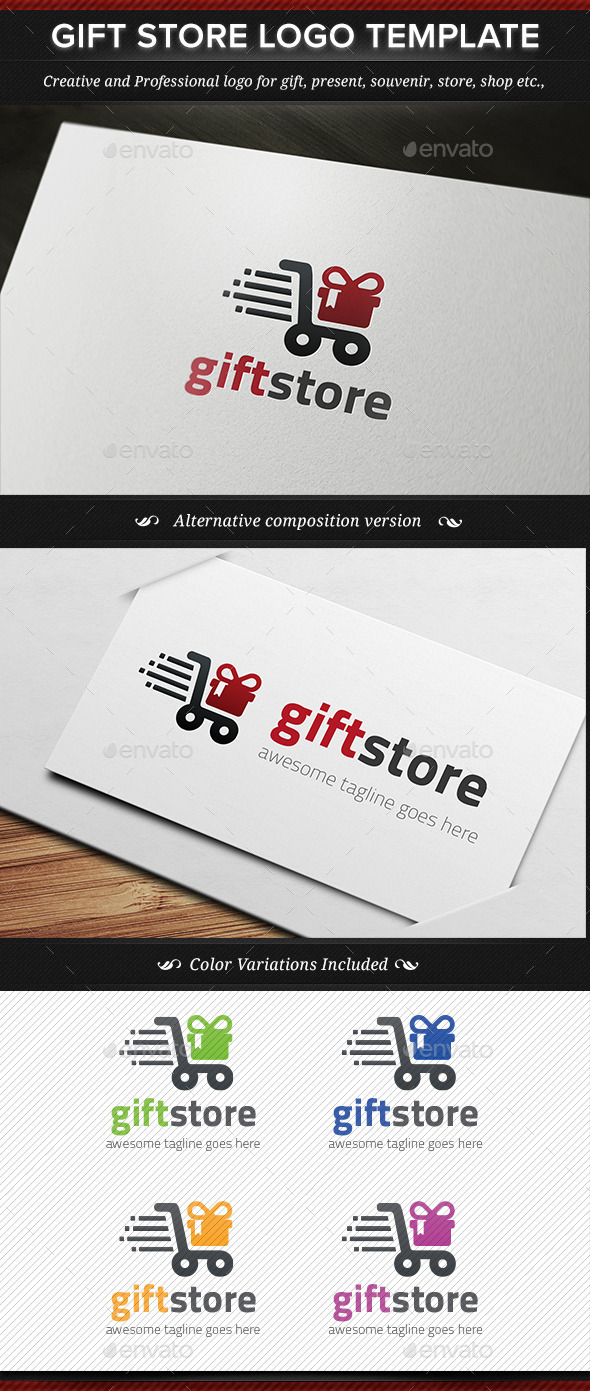 GraphicRiver Gift Store Logo Template 11245031