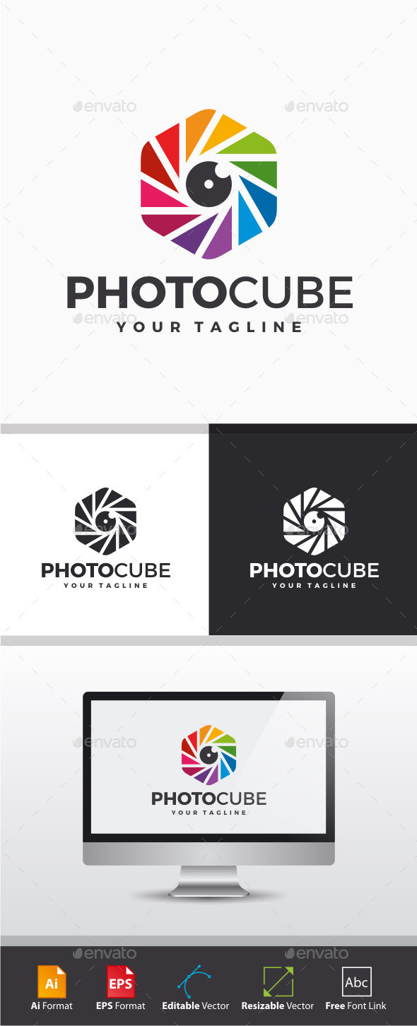 GraphicRiver Photo Cube Logo 11211502