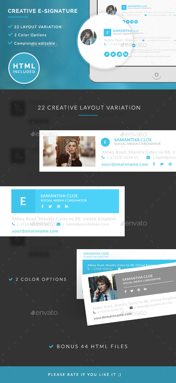 GraphicRiver Creative E-signature 11245099