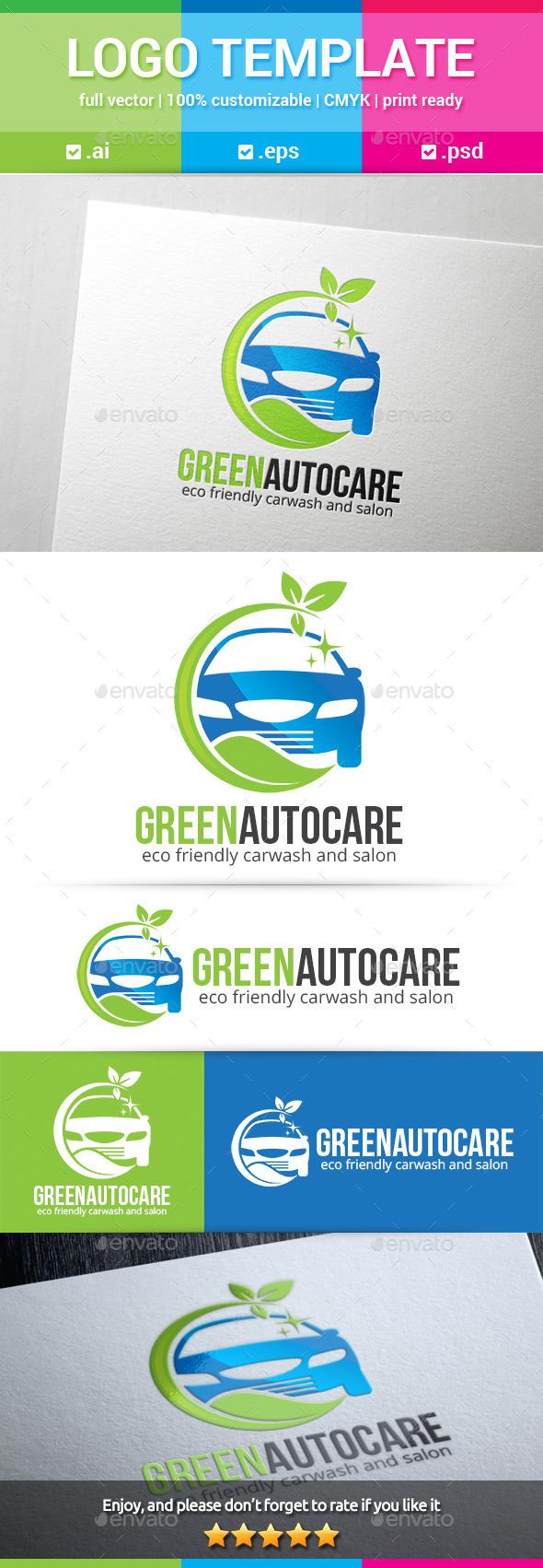 GraphicRiver Green Auto Care Logo 11245109