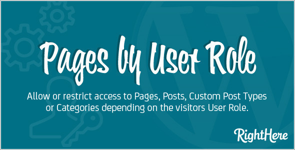 Pages by User Role for WordPress - CodeCanyon Item for Sale