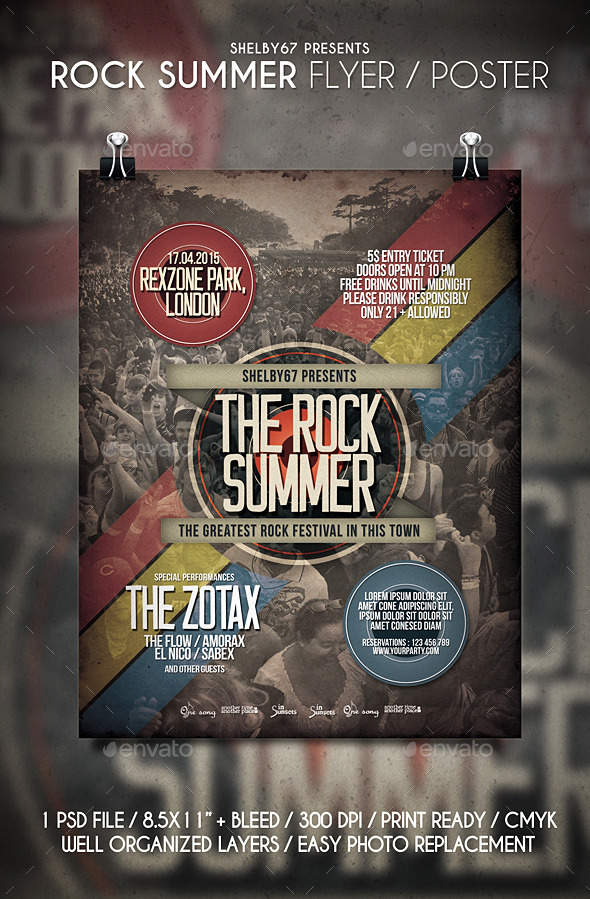 GraphicRiver Rock Summer Flyer Poster 11245239