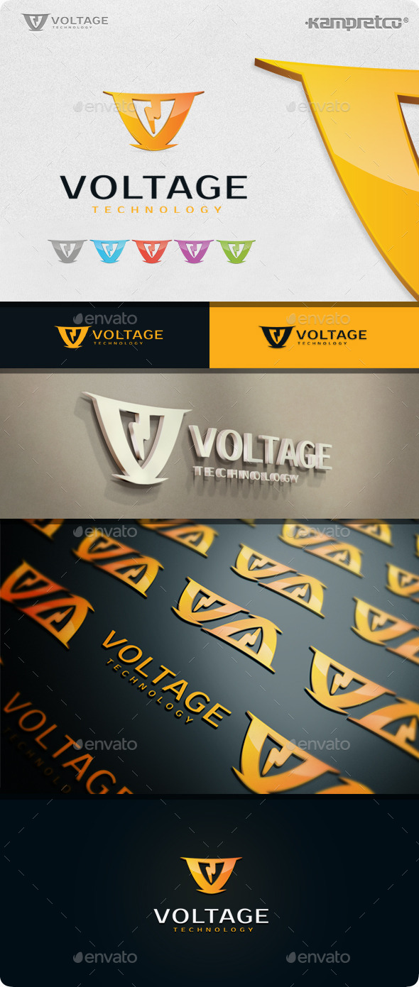 GraphicRiver Storm Voltage Logo 11208115